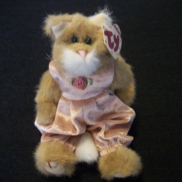 TY Other - DARLING TY PLUSH CAT POUNCER W PINK JUMPSUIT